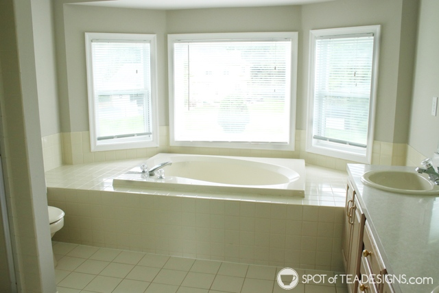 "Nehil Home Tour: the ""before"" photos - master bathroom tub 