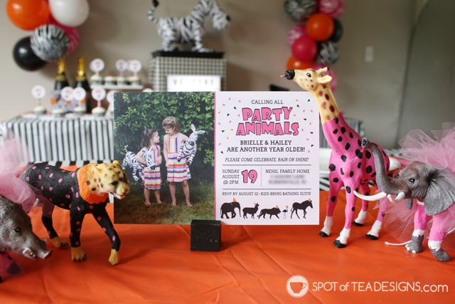 Party animals party - decorations, food, activity and favor ideas | spotofteadesigns.com