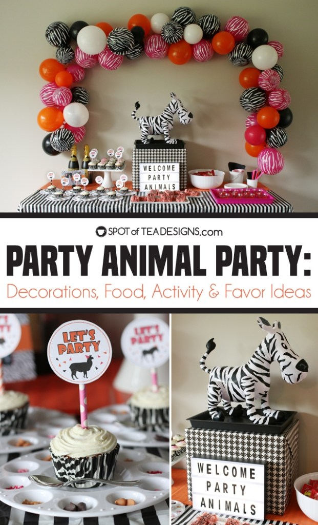 Party animals party - decorations, food, activity and favor ideas   spotofteadesigns.com