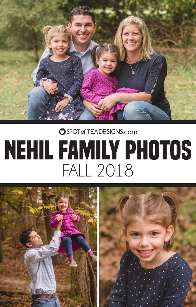 Nehil family photos 2018 as shot by Heather Michelle Photography | spotofteadesigns.com