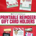 Printable Reindeer Gift Card Holders