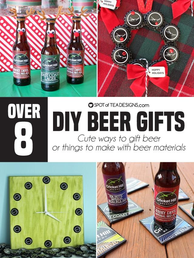 8+ DIY Beer gift ideas - reinbeers | spotofteadesigns.com