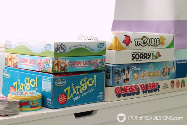 Favorite card games and board games for kids ages 2 - 5 years old | spotofteadesigns.com