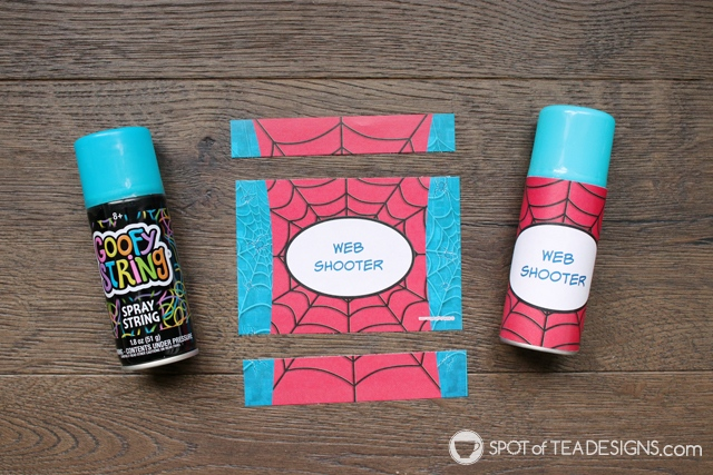 5+ budget friendly spider-man party hacks - personalized chocolate bar wrappers used for party favors | spotofteadesigns.com