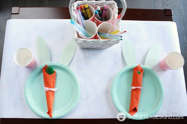 Easter Kids Table Tips and Tricks | spotofteadesigns.com