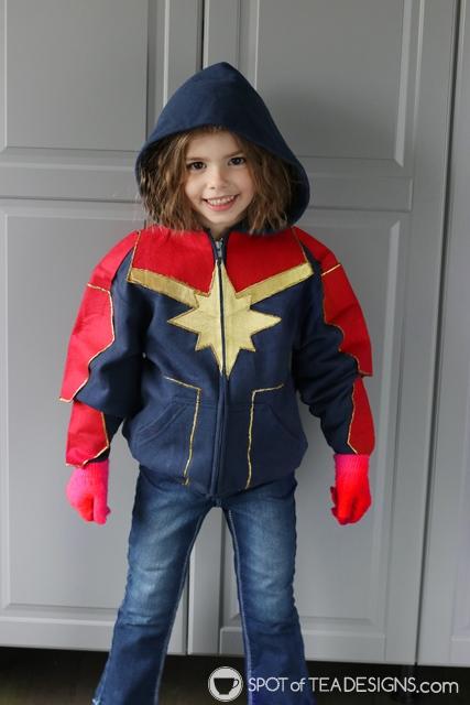 DIY Hoodies for kids - captain marvel   spotofteadesigns.com