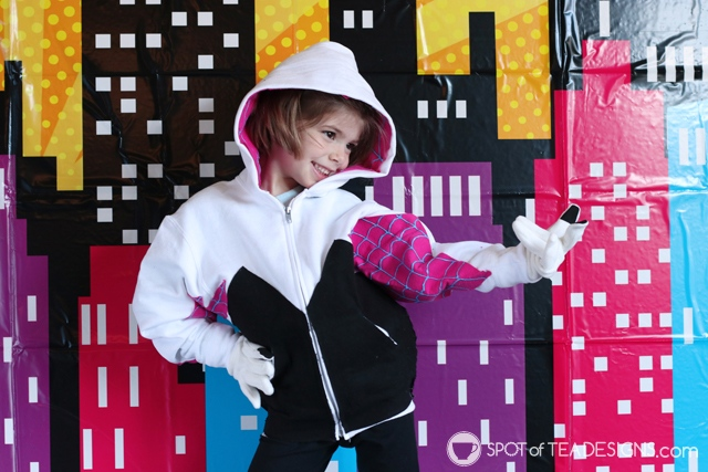 DIY Hoodies for kids - spider gwen | spotofteadesigns.com