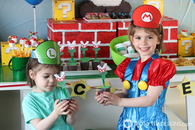 Super Mario Party Hacks - with free printables | spotofteadesigns.com