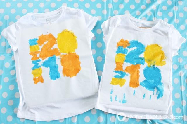 DIY summer t-shirt with freezer paper tutorial | spotofteadesigns.com