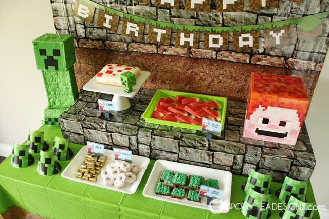 Minecraft Party Hacks | spotofteadesigns.com