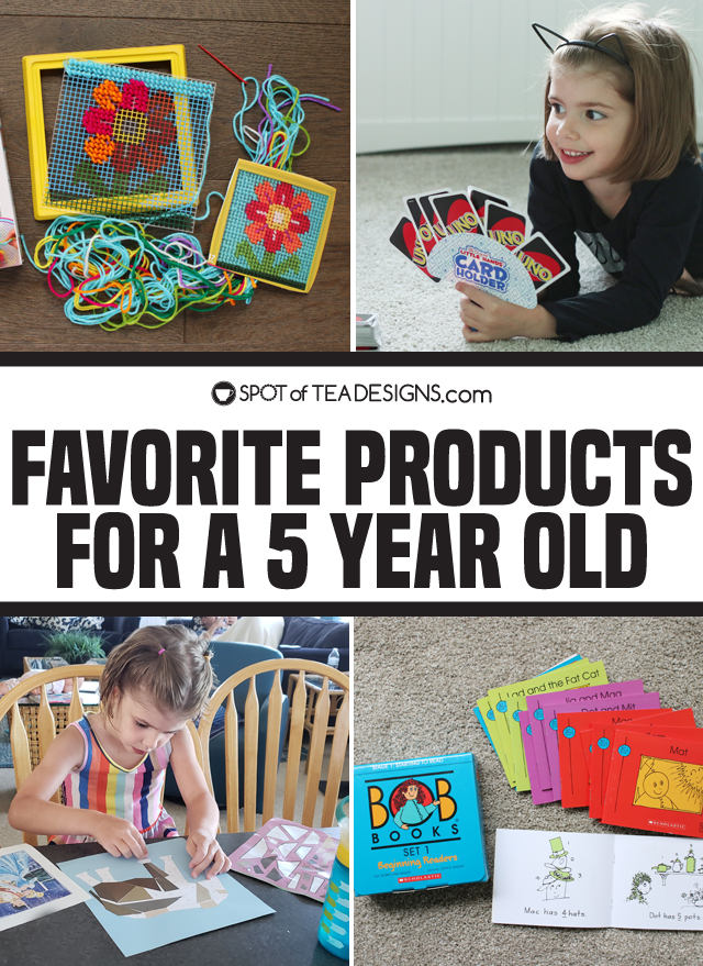 Favorite products for a 5 year old girl | spotofteadesigns.com