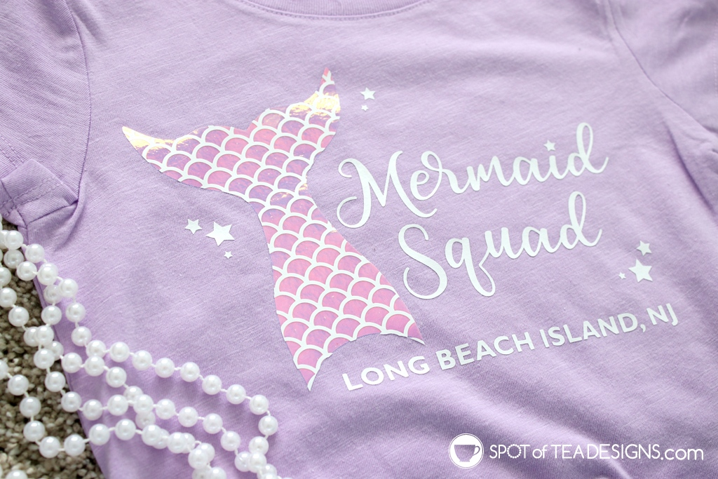 DIY Tshirt: Mermaid squad design available as free SVG cut file | spotofteadesigns.com