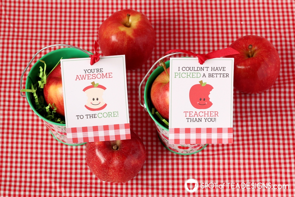 Teacher appreciation printables - apple tags | spotofteadesigns.com