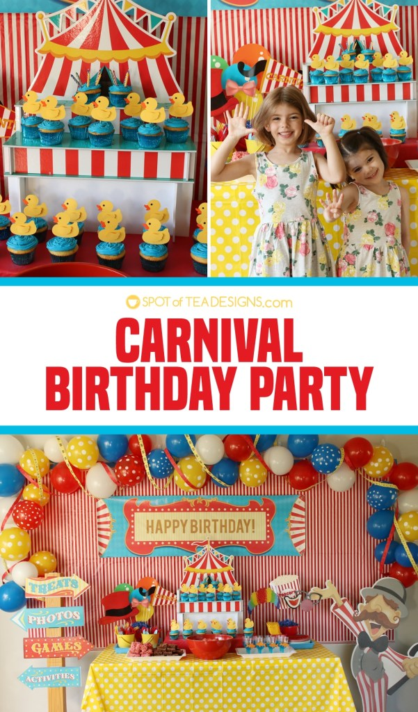 Carnival Birthday Party details | spotofteadesigns.com