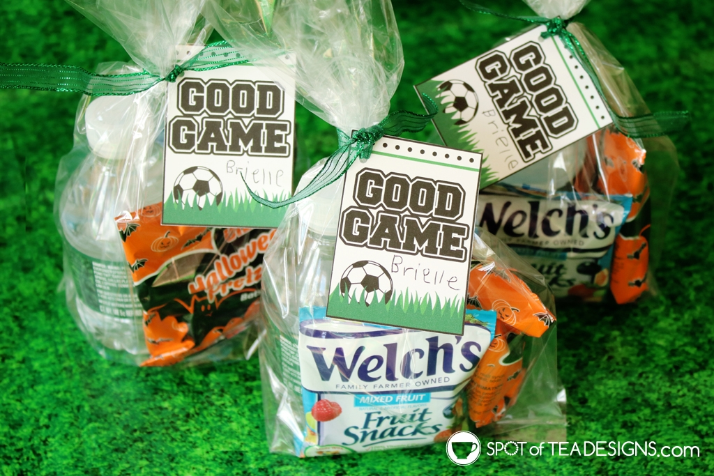 """""""good game"""" soccer favor tags for when you have snack duty! 