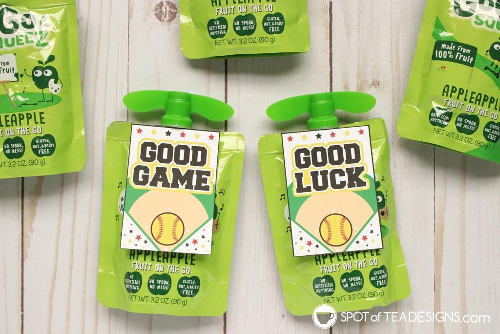 Good game softball favor tags | spotofteadesigns.com