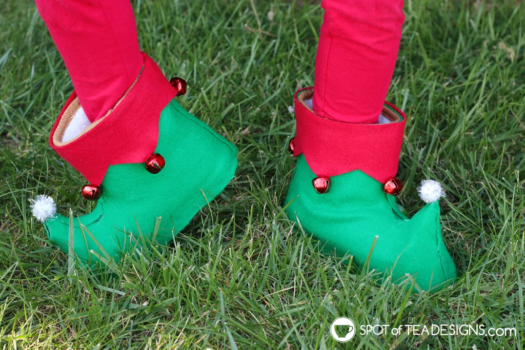DIY Shoes - Elf shoes made from knock off Walmart uggs | spotofteadesigns.com