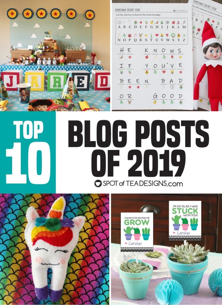 Top 10 Spotofteadesigns.com blog posts of 2019