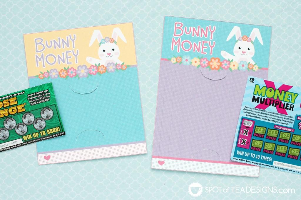 Bunny Money Easter Printable Lottery Ticket Holder | spotofteadesigns.com
