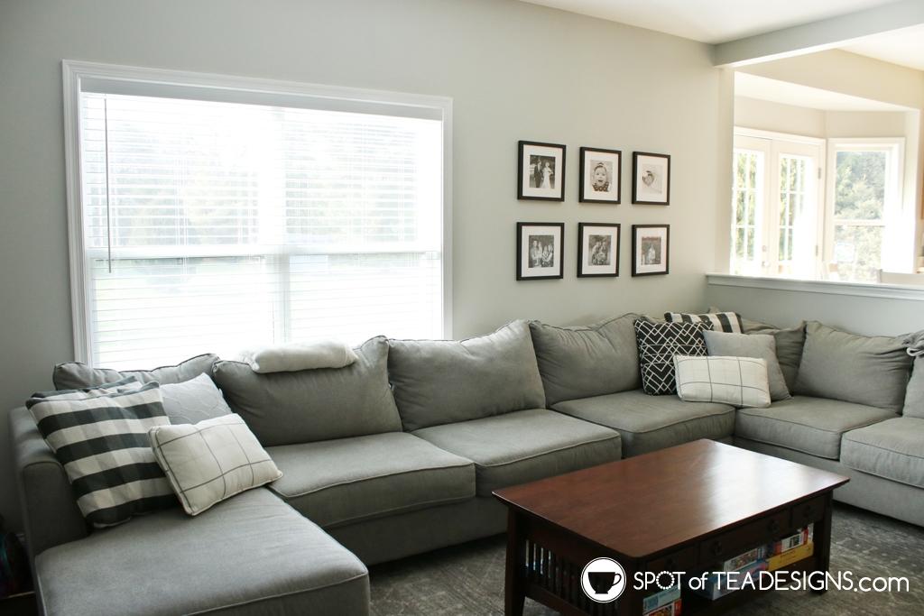Home Tour - Living room gallery wall | spotofteadesigns.com