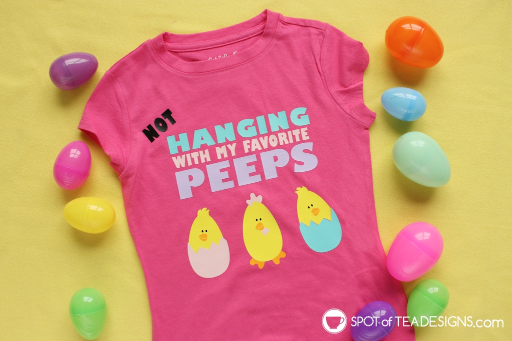 Easter T-shirt | not hanging with my peeps - a design specifically for Easter 2020 while everyone is home on quarantine. free SVG cut file to make your own! | spotofteadesigns.com
