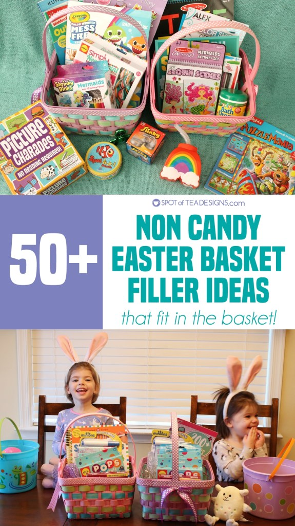 50+ non candy easter basket filler ideas for kids that fit in the basket! | spotofteadesigns.com