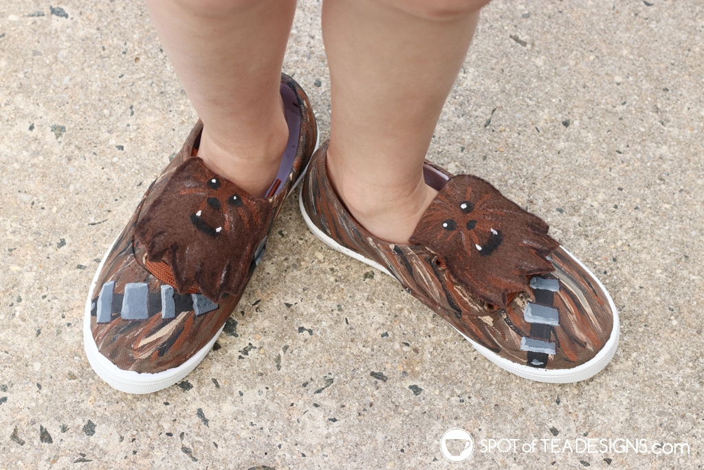 DIY Star Wars Projects to make for May the 4th - chewbacca shoes | spotofteadesigns.com