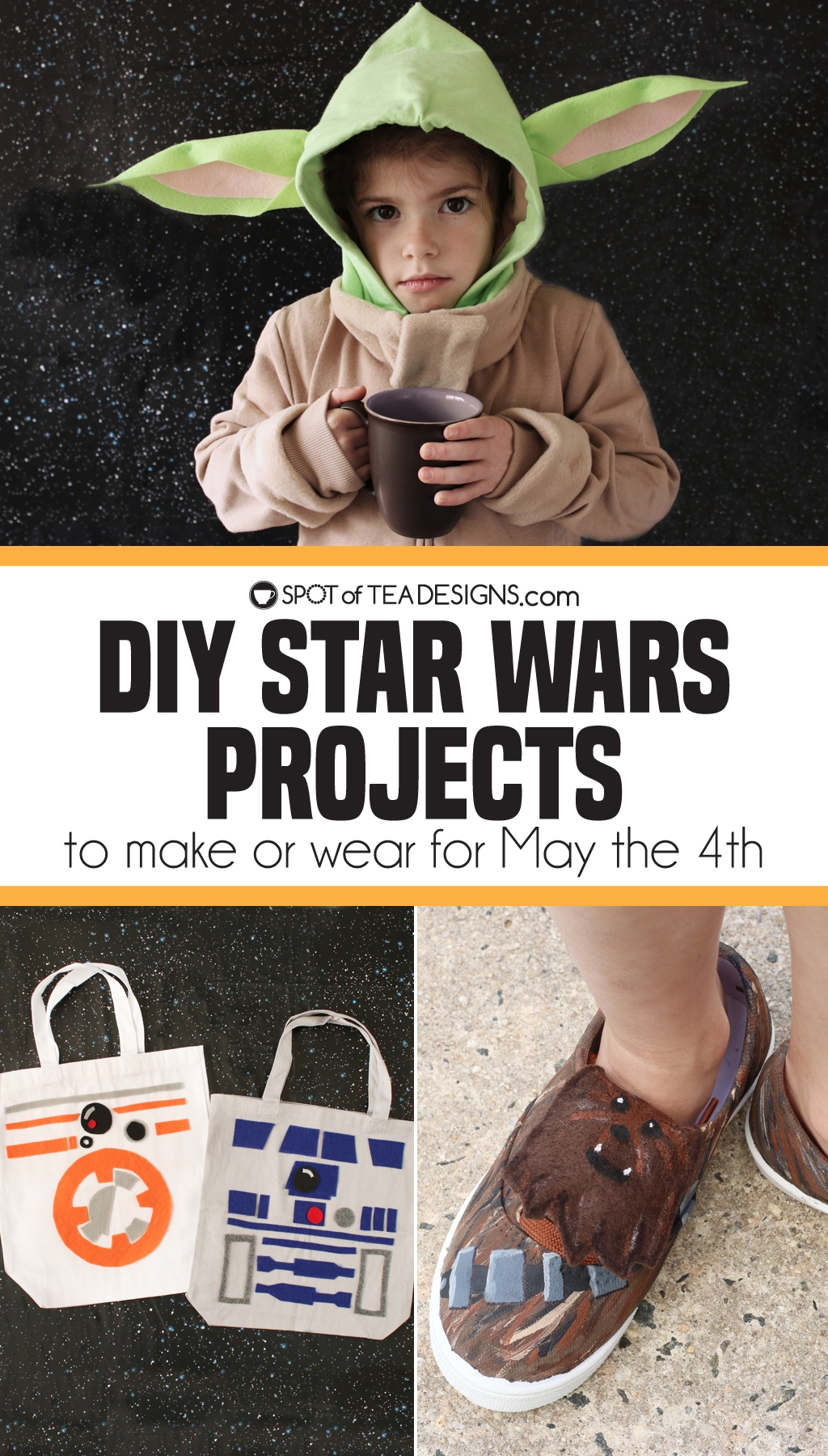 DIY Star Wars Projects to make for May the 4th | spotofteadesigns.com