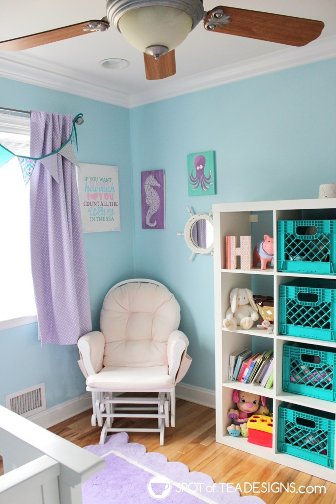 Under the sea nursery tour - artwork corner | spotofteadesigns.com