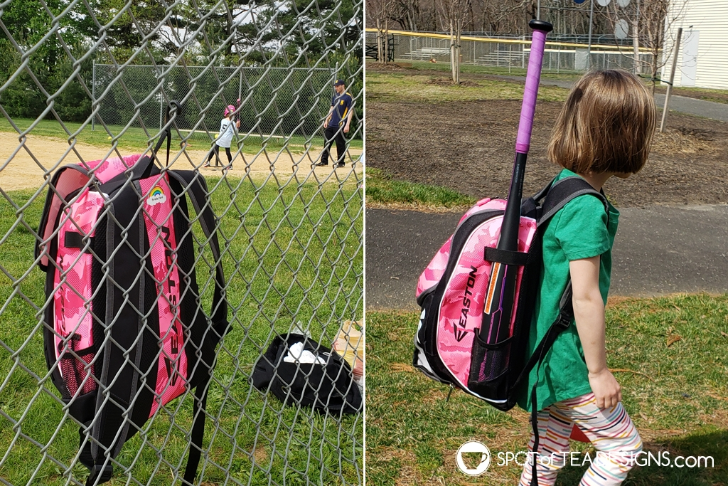Favorite products for a 6 year old - youth sized softball bag | spotofteadesigns.com