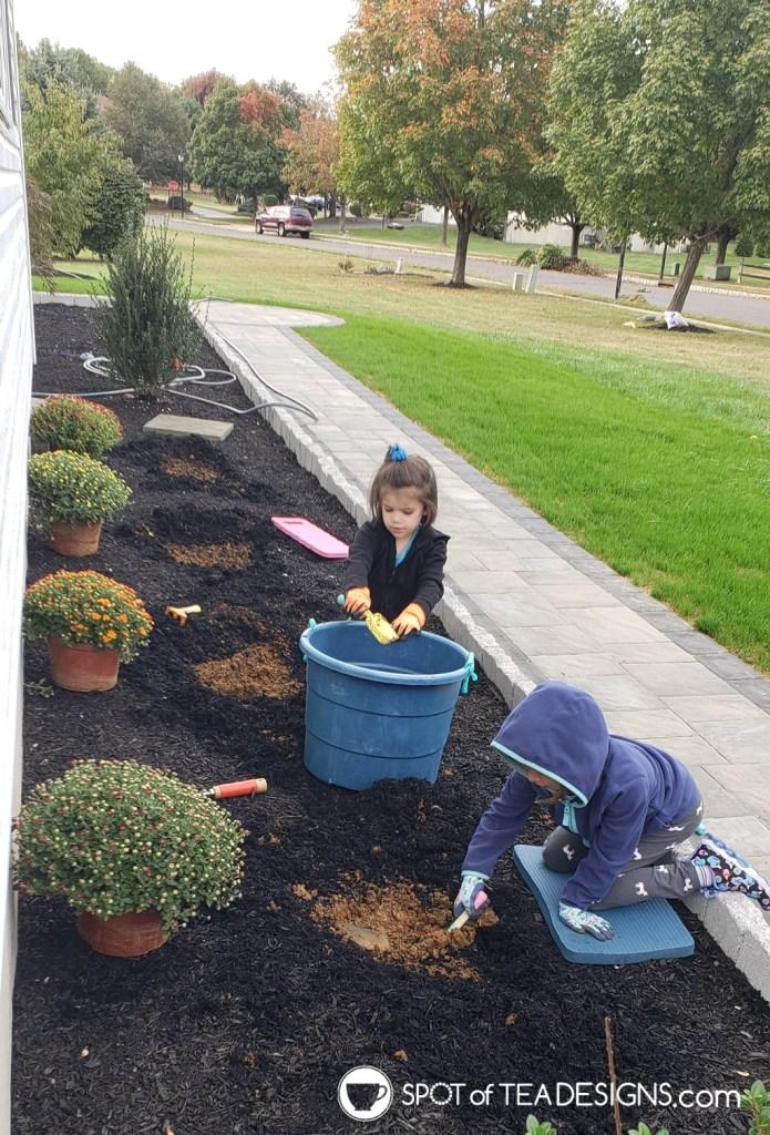 Favorite outdoor toys for kids - gardening tools   spotofteadesigns.com