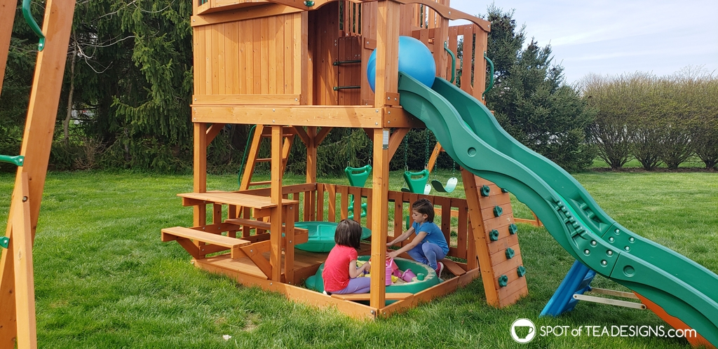 Favorite outdoor toys for kids - playset | spotofteadesigns.com