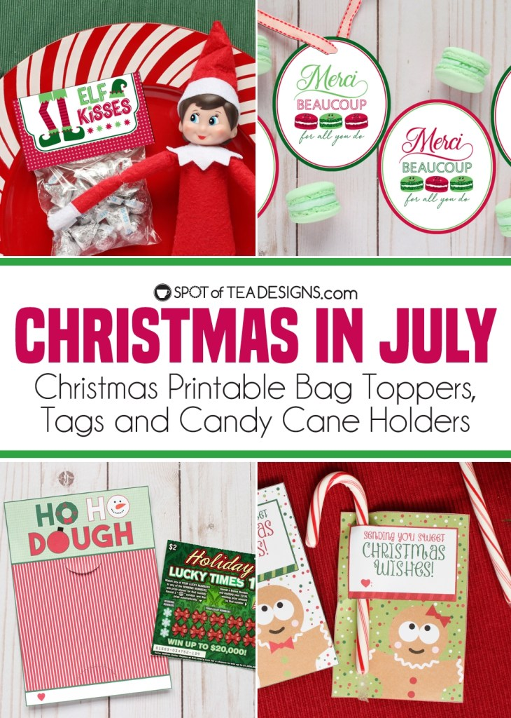 Christmas in July Printables Feature  - new designs from the Spot of Tea Designs Etsy Shop | spotofteadesigns.com