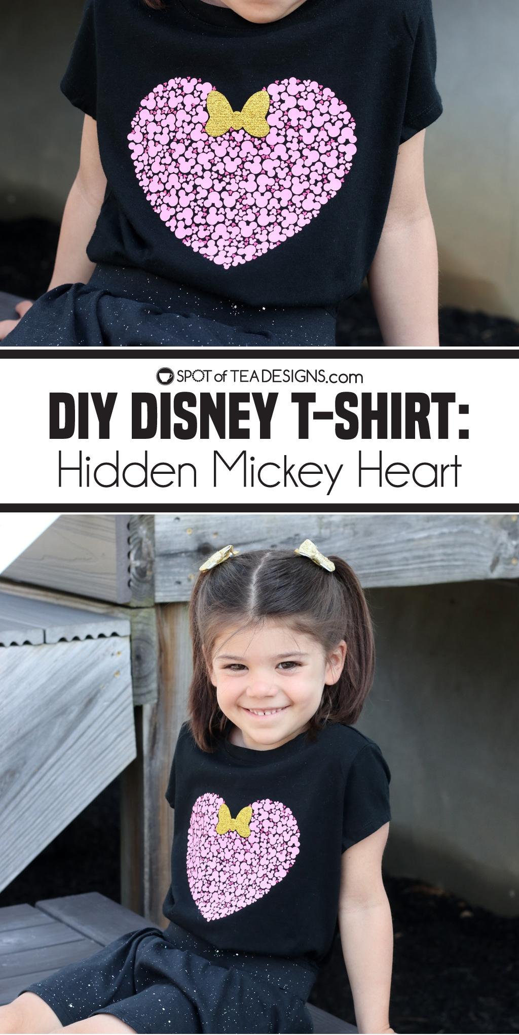 DIY Disney T-shirt - Hidden Mickey Heart   spotofteadesigns.com
