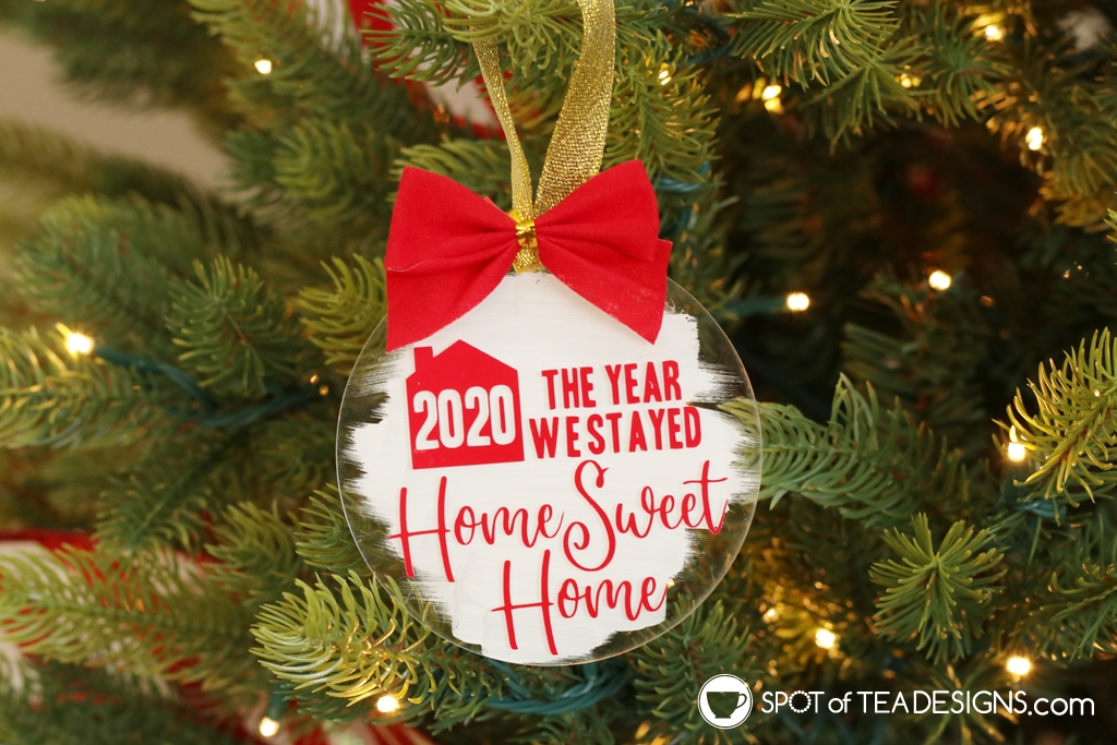 Home sweet home ornament - with free cut file | spotofteadesigns.com