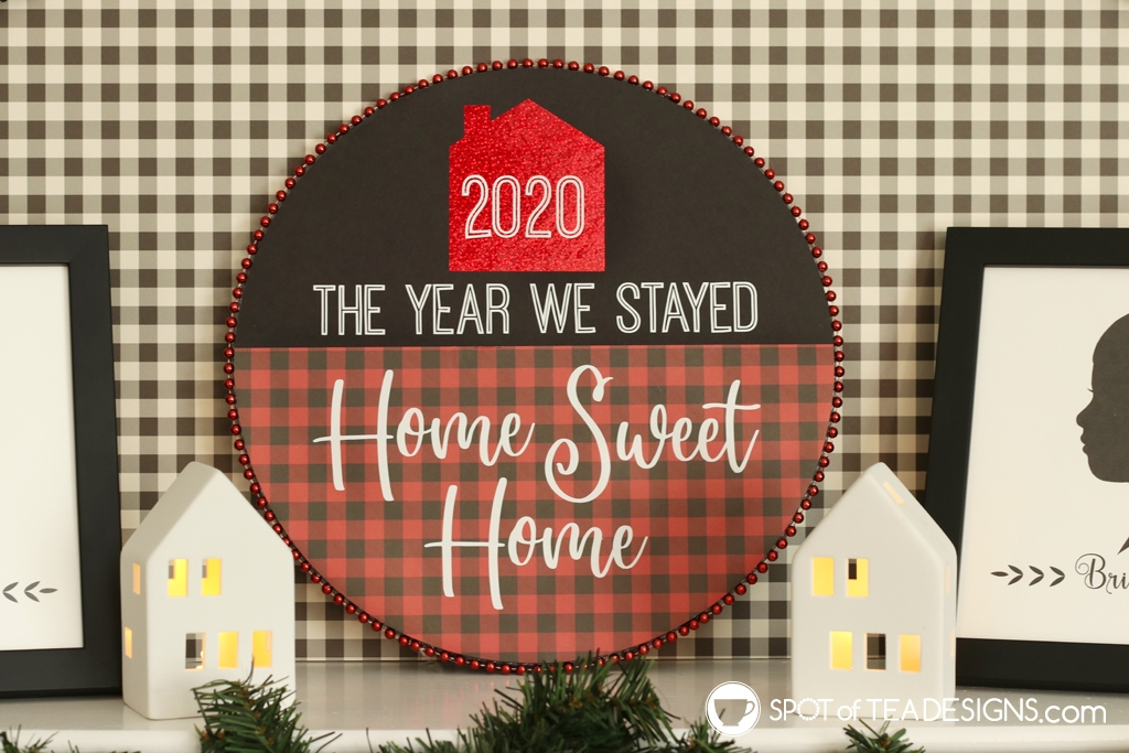 DIY Plaid Christmas Mantle | spotofteadesigns.com