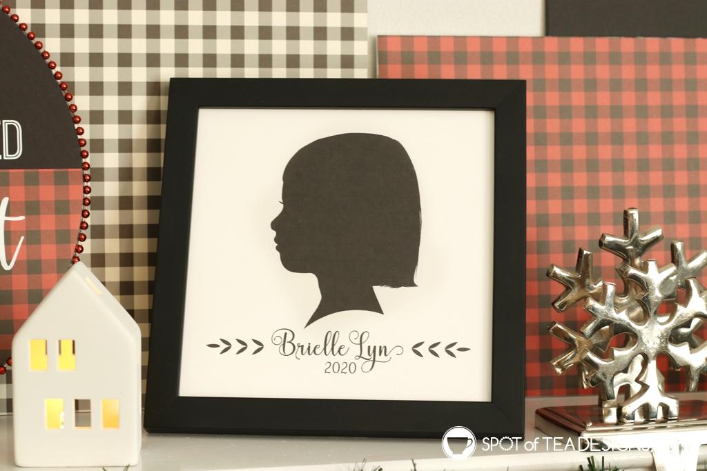 DIY Plaid Christmas Mantle silhouette | spotofteadesigns.com