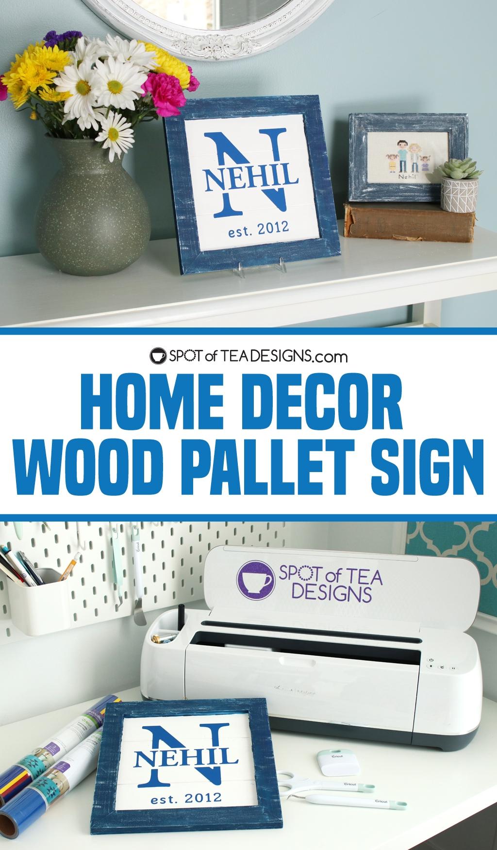 Wood Home Decor Sign | spotofteadesigns.com