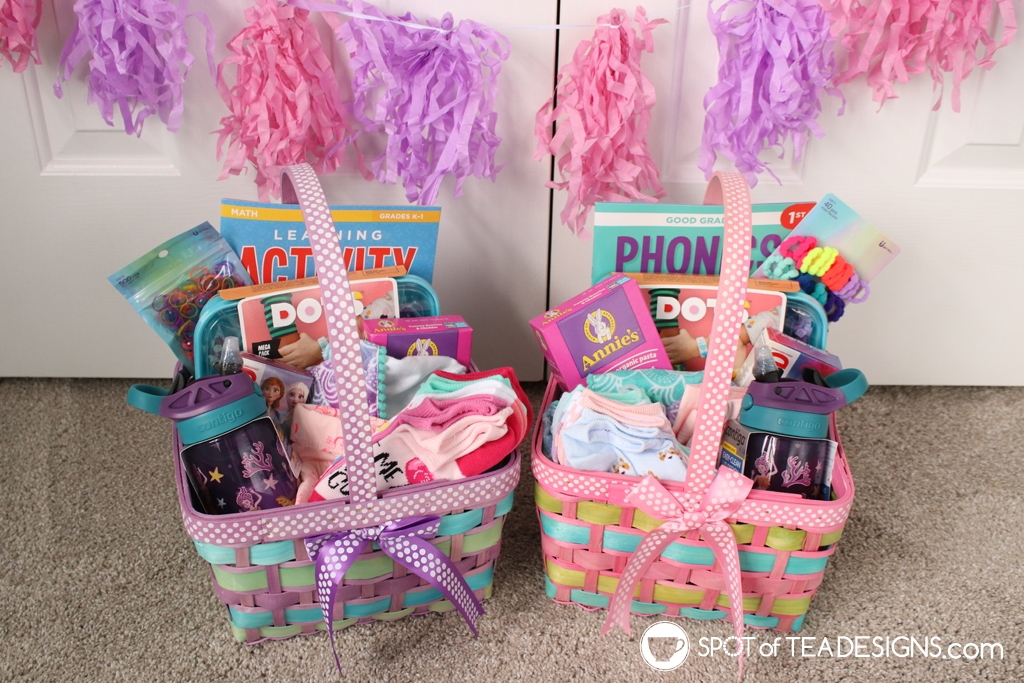 Easter basket ideas for girls age 5 and 7 | spotofteadesigns.com