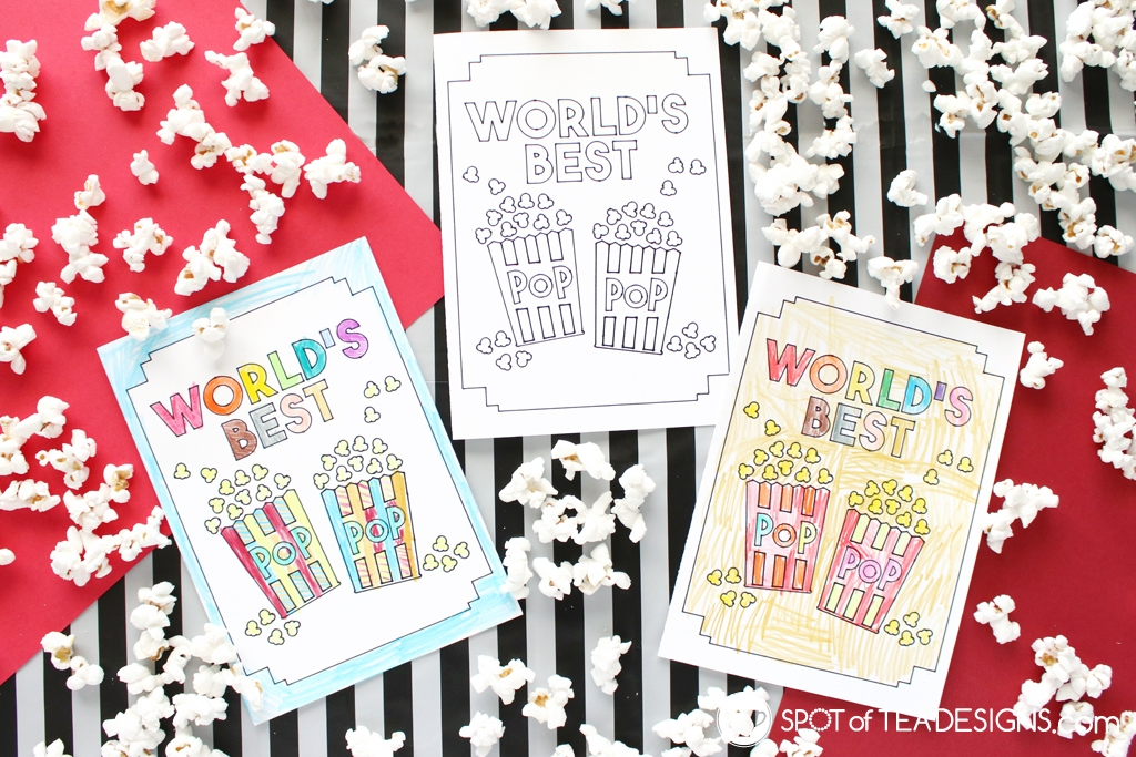 Father's Day Coloring Sheet created with Cricut - Free svg cut file and tutorial | spotofteadesigns.com