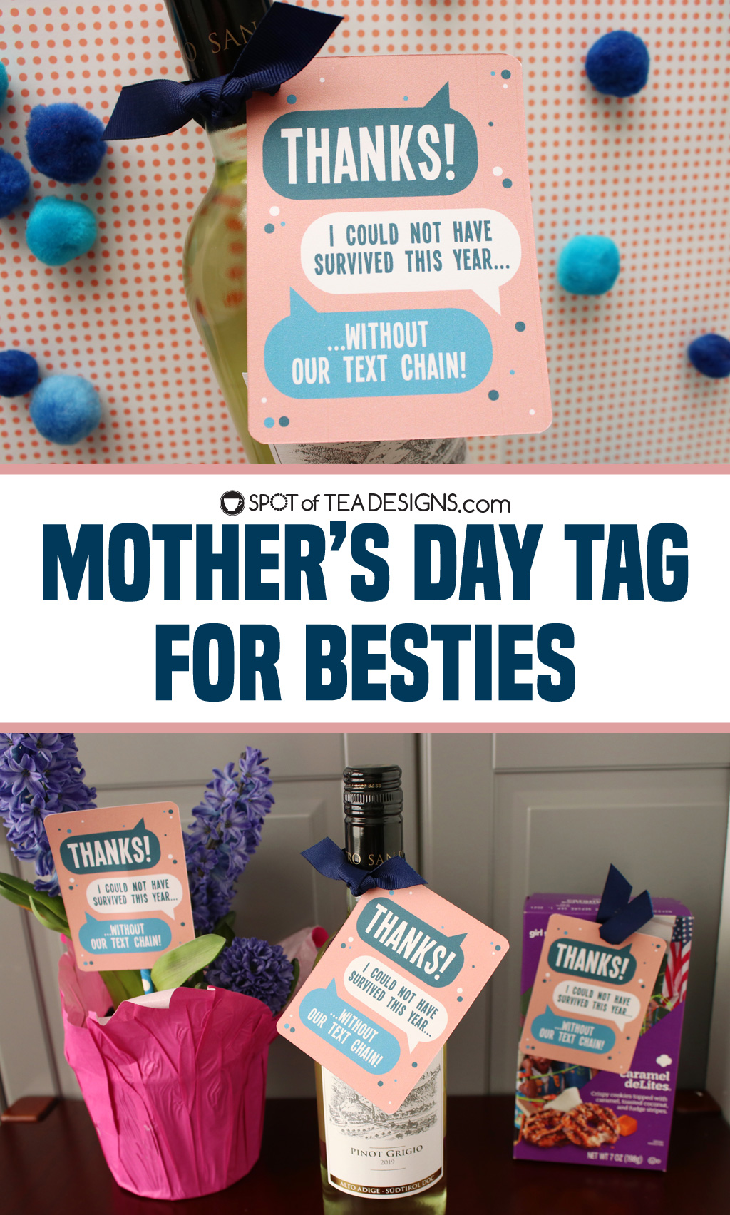 Mother's Day tag for besties | spotofteadesigns.com