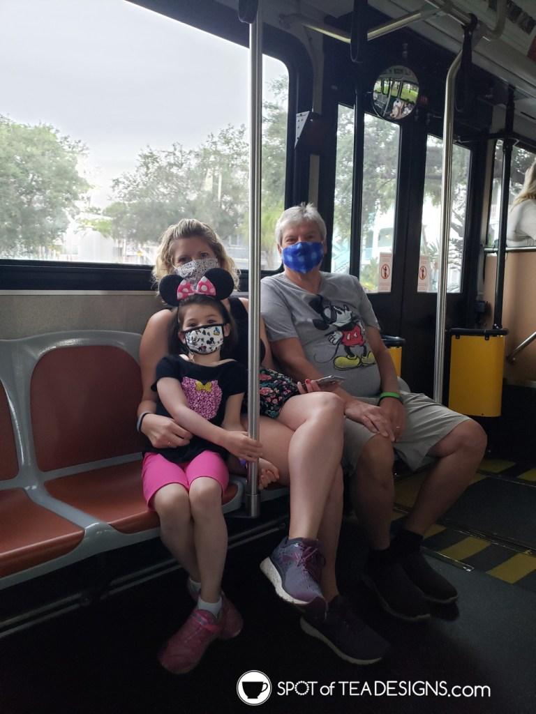 Our Disney World Vacation Budget - bus transportation | spotofteadesigns.com