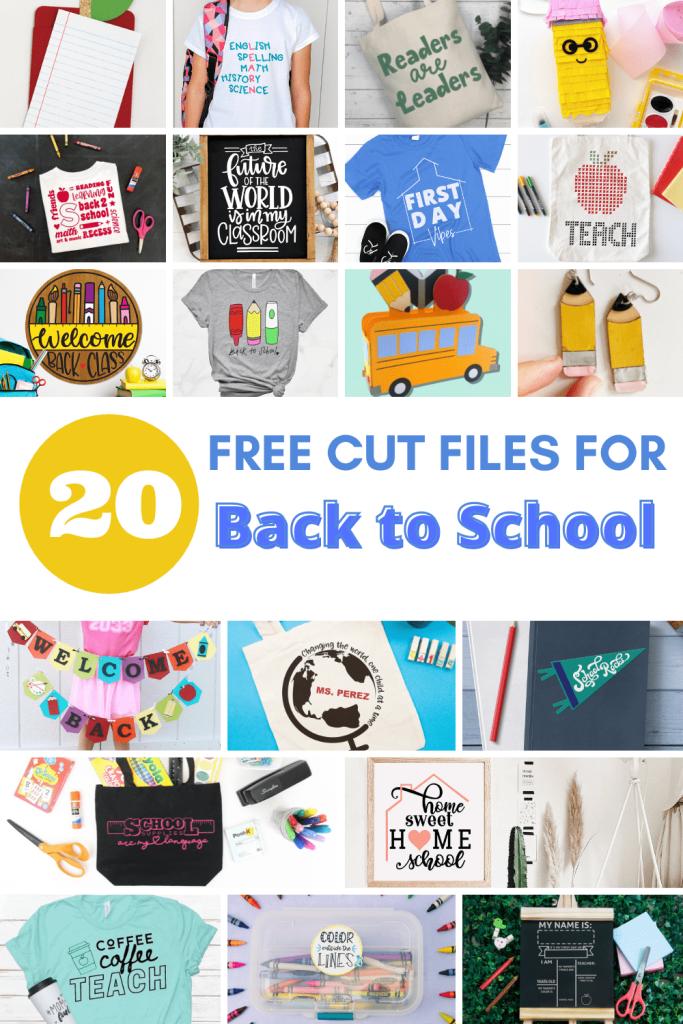 20 free back to school cut files | spotofteadesigns.com
