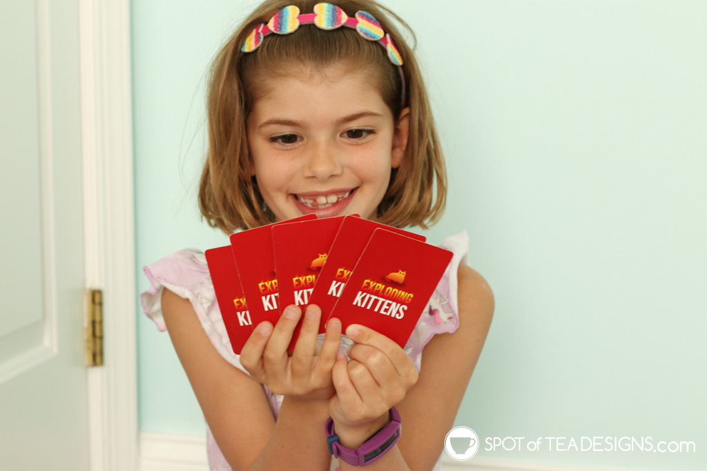 Favorite products for a 7 year old - exploding kittens card game   spotofteadesigns.com