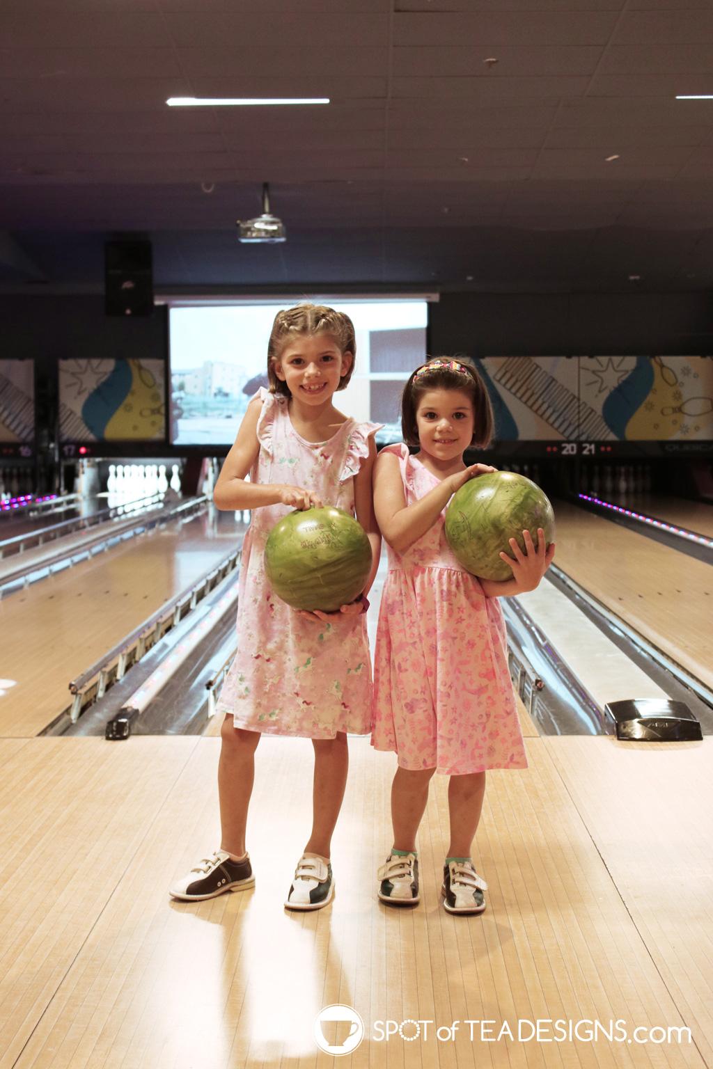 girls bowling birthday party | spotofteadesigns.com