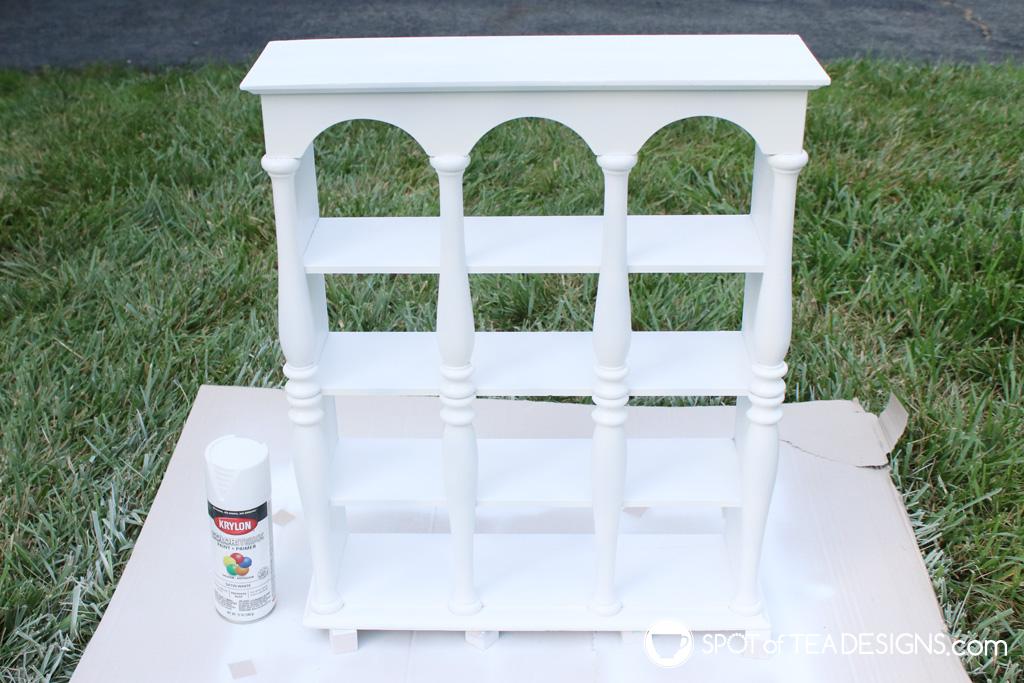 Decorative shelf makeover | spotofteadesigns.com