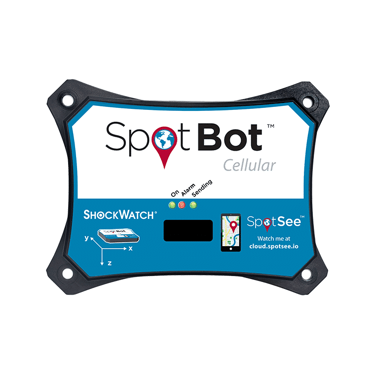 SpotBot Cellular SpotSee Temperature Recorders Impact Monitors