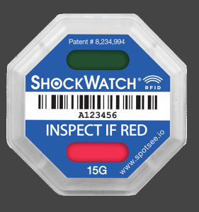 ShockWatch RFID tracking sticker