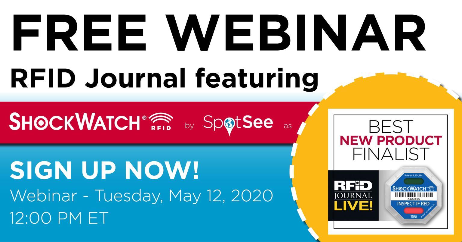 Free Webinar <br></noscript> RFID Journal featuring ShockWatch RFID by Spotsee