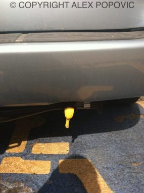 Picture of banana in tailpipe of PI trailing me courtesy of Alex Popovic